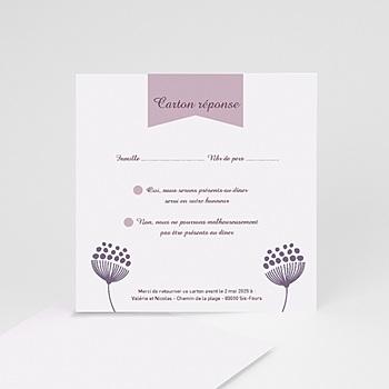 Cartons réponse violettes personnalisable