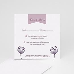 Cartons réponse Violettes