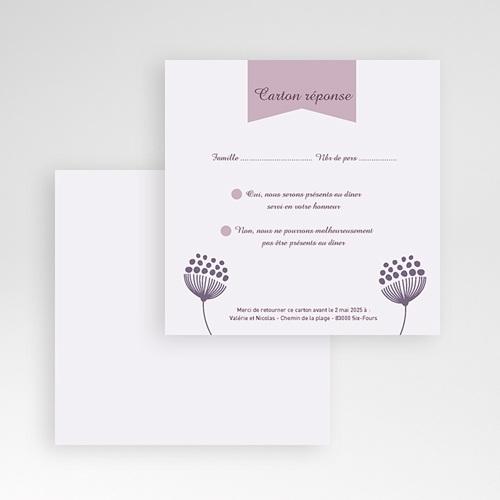 Cartons réponse Violettes gratuit