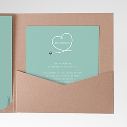 Invitations Avion voyage