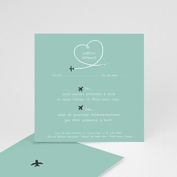 Achat cartons réponse avion voyage
