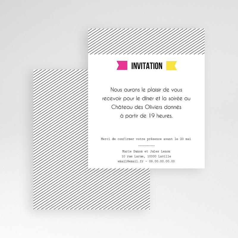 Carte d'invitation Fluo gratuit