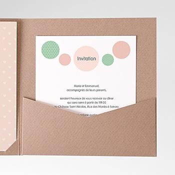 Carte d'invitation pois sur mesure