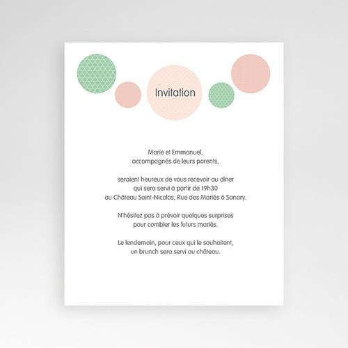 Carte d'invitation Pois