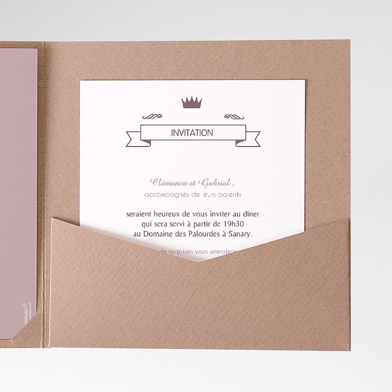 Carte d'invitation Douce musique