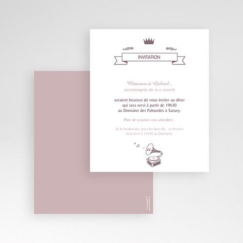 Carte d'invitation Douce musique gratuit