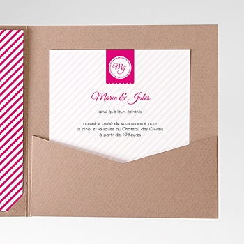 Carte d'invitation Simple et chic personnalisable