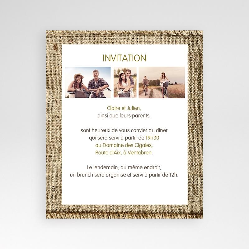 Carte d'invitation A la campagne