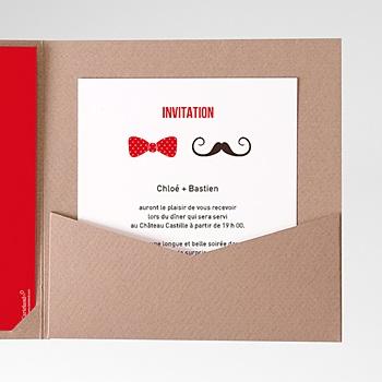 Carte d'invitation Monsieur et Madame