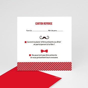 Cartons réponse Monsieur et Madame personnalisable