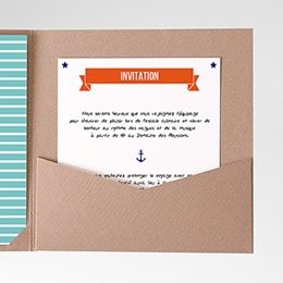 Carte d'invitation Faire-part Marin