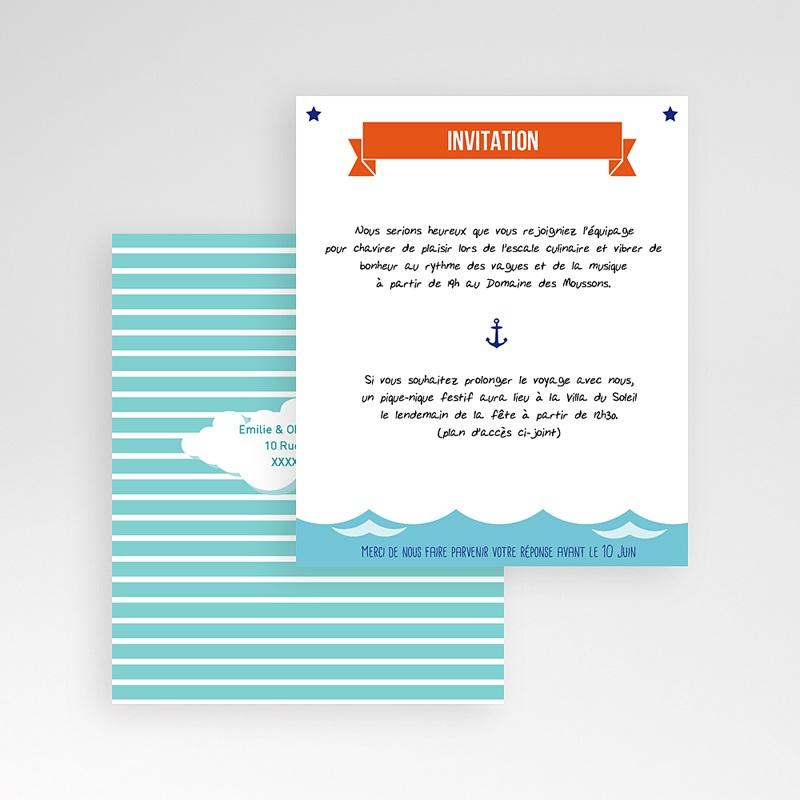 Carte d'invitation Faire-part Marin gratuit