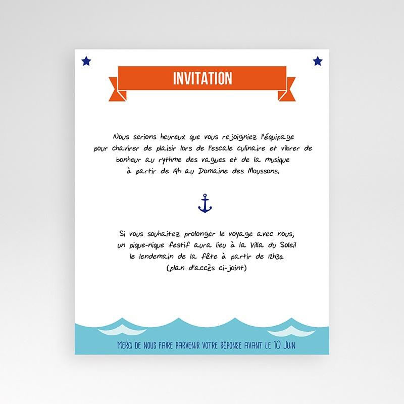Carte d'invitation Faire-part Marin