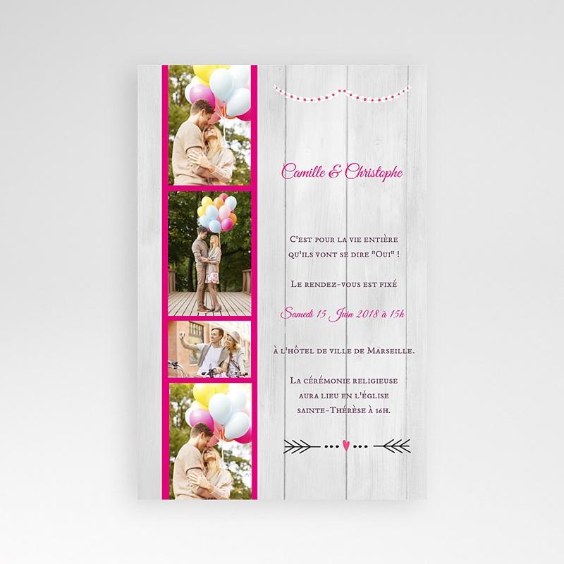 Faire Part Mariage Pochette rectangulaire - Un beau jour 39208 thumb