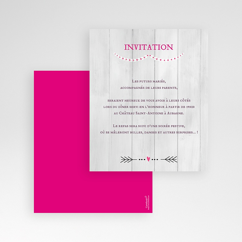 Carte d'invitation Un beau jour gratuit