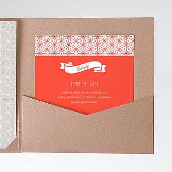 Carte d'invitation origami sur mesure