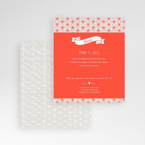 Carte d'invitation Origami gratuit