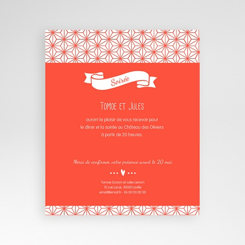 Carte d'invitation Origami