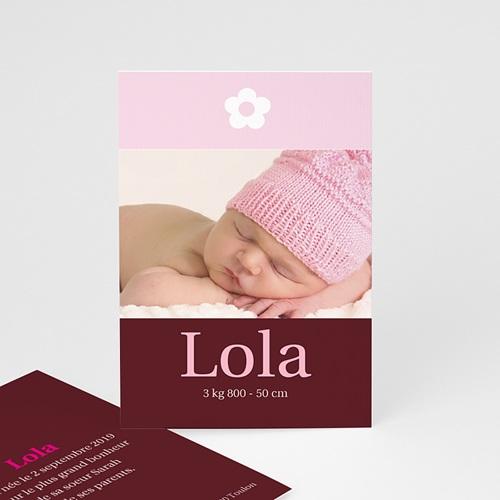 Faire-part naissance fille Design Fleuri