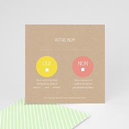 Carton réponse Bulles créatives