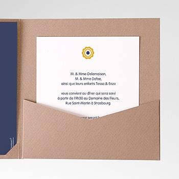 Carte d'invitation mer et soleil personnalisable