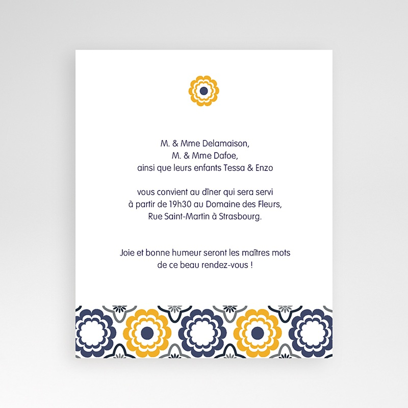 Carte d'invitation Mer et Soleil