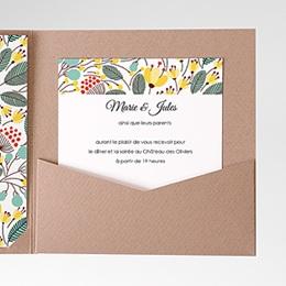 Carte d'invitation Fleurs des champs