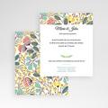 Carte d'invitation Fleurs des champs gratuit