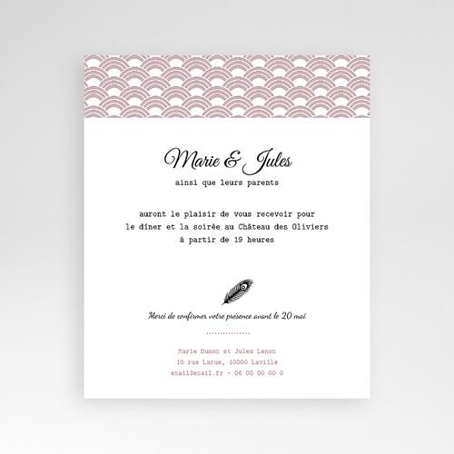 Carte d'invitation Années Folles