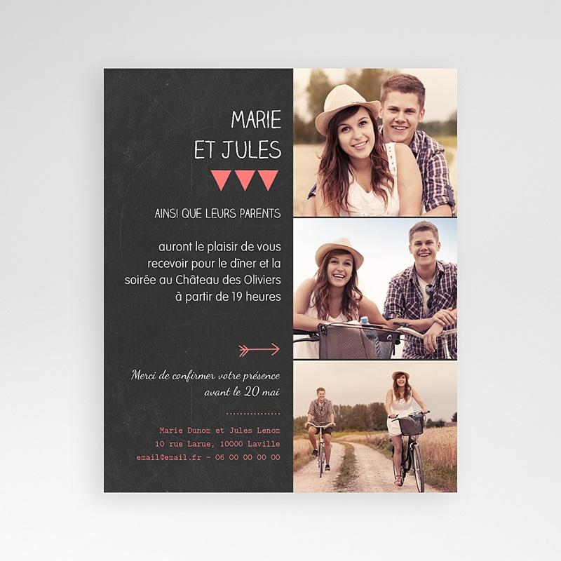 Carte d'invitation Photo amoureux