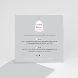Carton réponse Amour illuminé