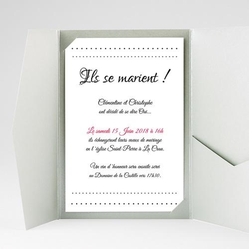 Faire Part Mariage rectangulaire Elégance gratuit