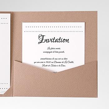 Carte d'invitation Elégance à personnaliser