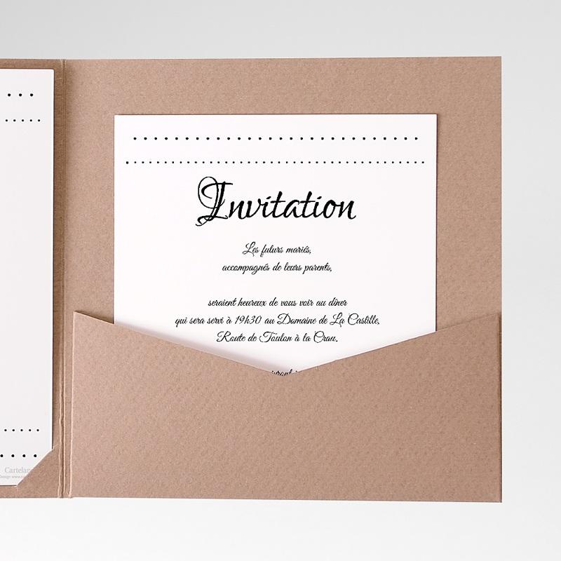 Carte d'invitation Elégance