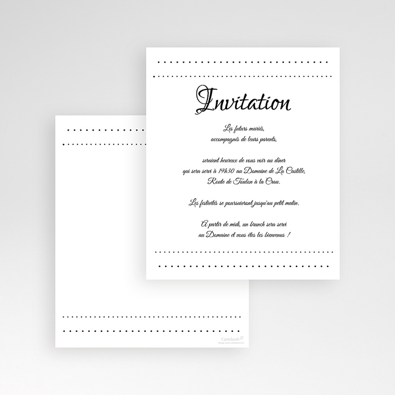 Carte d'invitation Elégance gratuit