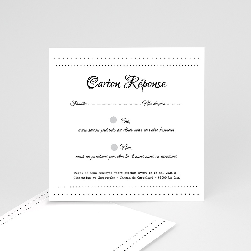 Cartons réponse Elégance