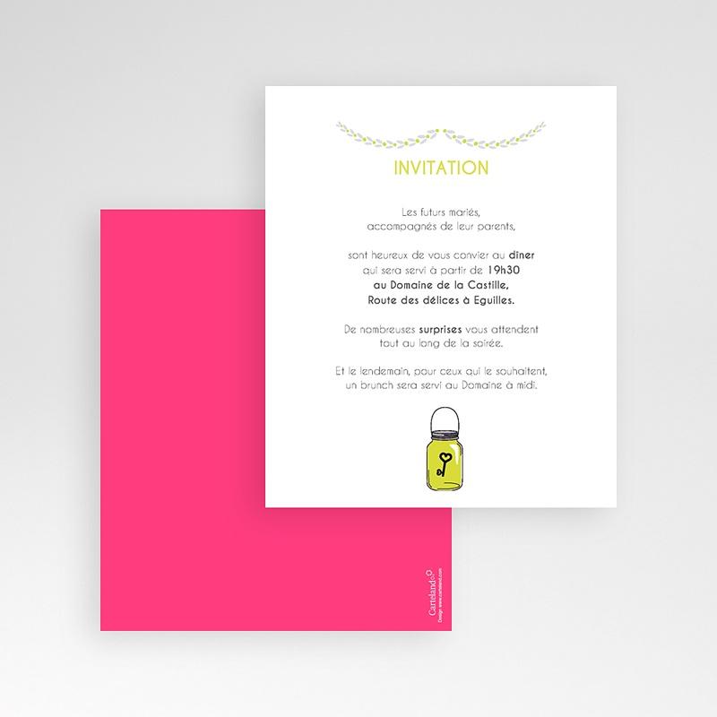 Carte d'invitation Flacons d'amour gratuit