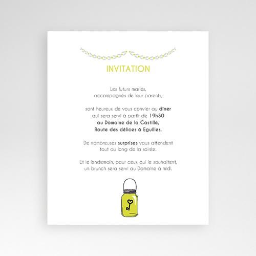 Carte d'invitation Flacons d'amour