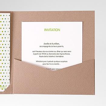 Acheter carte d'invitation fleurs champêtres