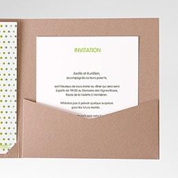 Carte d'invitation Fleurs Champêtres