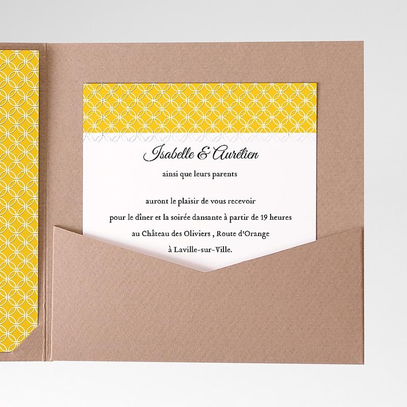 Carte d'invitation Soleil