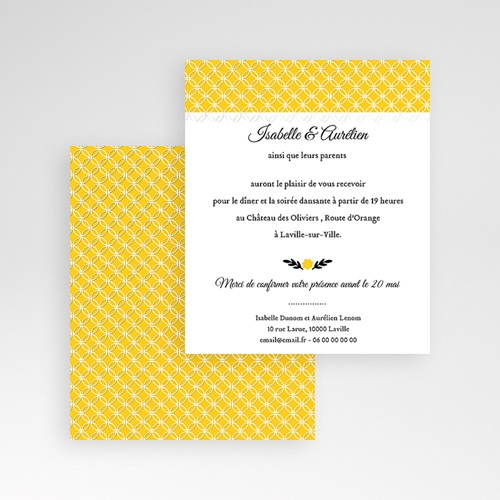 Carte d'invitation Soleil gratuit