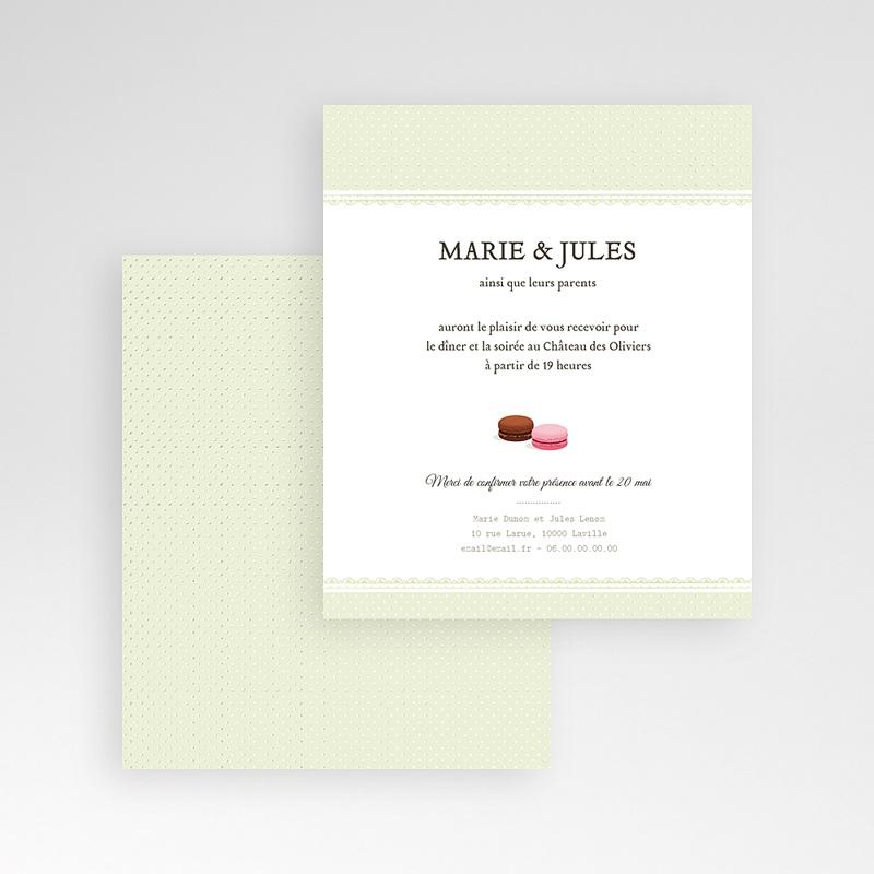 Carte d'invitation Amour de macaron gratuit