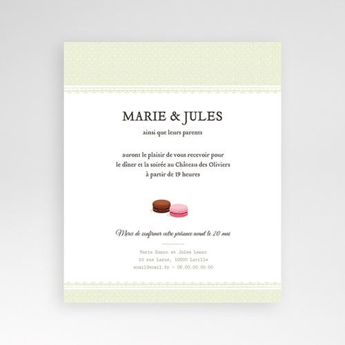 Carte d'invitation Amour de macaron