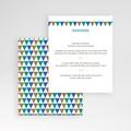 Carte d'invitation Mosaïques Bleues gratuit