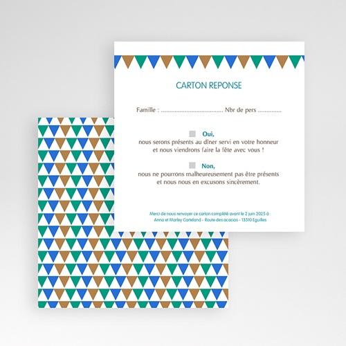 Cartons réponse Mosaïques Bleues gratuit