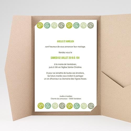 Faire Part Mariage Pochette rectangulaire - Fleurs champêtres 39545 preview