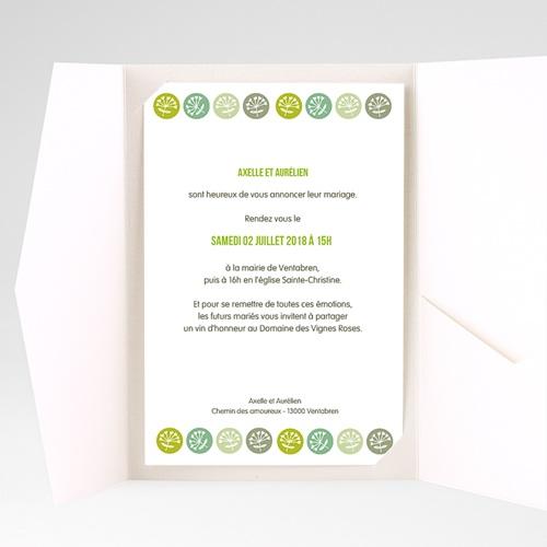 Faire Part Mariage Pochette rectangulaire - Fleurs champêtres 39546 preview