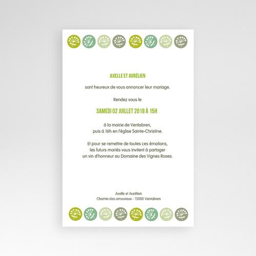 Faire Part Mariage Pochette rectangulaire - Fleurs champêtres 39548 preview