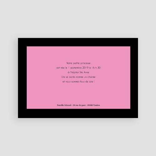 Faire-Part Naissance Fille - Enfant bonheur - rose 3955 preview